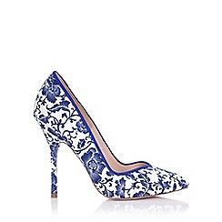 Paper Dolls - Blossom blue floral print court shoe