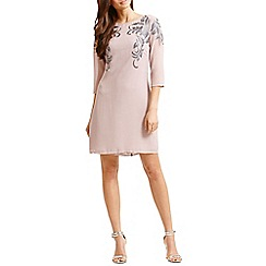 Little Mistress - Mink embellished front tunic dress