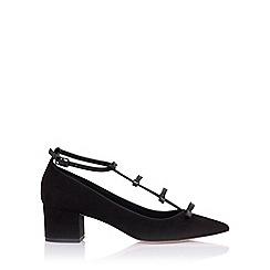 Paper Dolls - Raisie black mid heels with mini bows