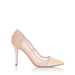 Paper Dolls - Orla nude sheer court with gold toe cap