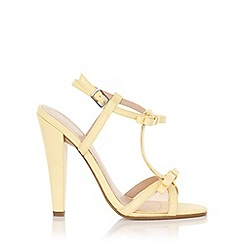 Paper Dolls - Ellette lemon mesh bow sandals