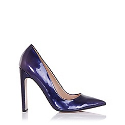 Paper Dolls - Dulcina navy metallic court heels