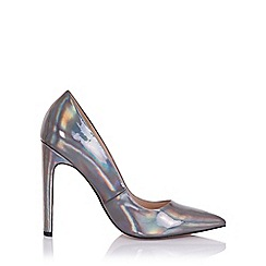 Paper Dolls - Dulcina grey metallic court heels