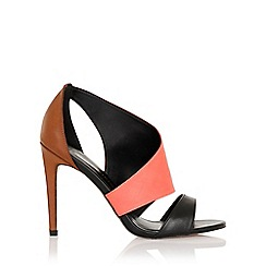 Little Mistress - Rhea pink, grey and black cut out shoe boot