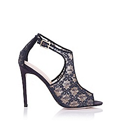 Little Mistress - Gaia navy lace cut out shoe boot