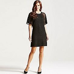 Paper Dolls - Black glitter lace sleeve dress