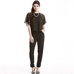 Paper Dolls - Black glitter lace sleeve top