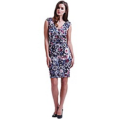 Paper Dolls - Floral cross over bardot dress