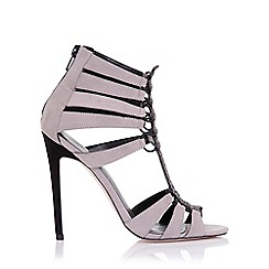 Little Mistress - Athena grey cage heeled sandals