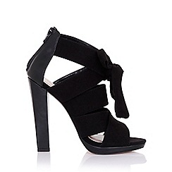 Little Mistress - Nyx black heeled sandals with bow