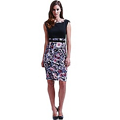 Paper Dolls - Black and floral bodycon dress