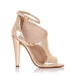Little Mistress - Hazel rose gold cut out shoe boot