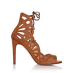 Little Mistress - Aphrodite tan lace up heels