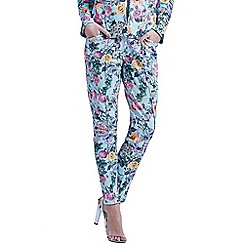 Paper Dolls - Floral waffle print trousers