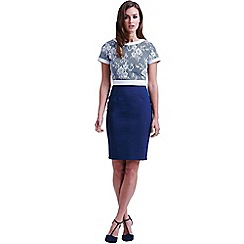 Paper Dolls - Navy and white lace top dress