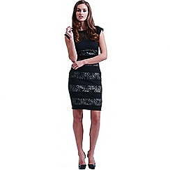 Paper Dolls - Black and cream lace band dress