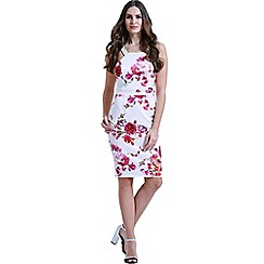 Paper Dolls - Rose print scuba dress