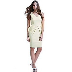 Paper Dolls - Structured yellow dress