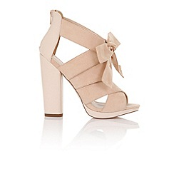 Little Mistress - Nyx nude heeled sandals with bow