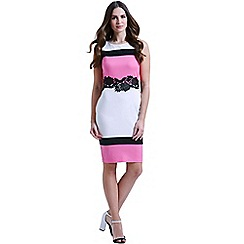 Paper Dolls - Black, white & pink hoop dress