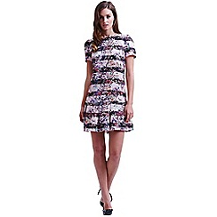 Paper Dolls - Floral stripe jacquard tunic dress