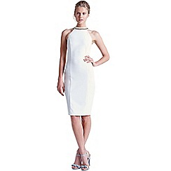 Paper Dolls - White embellished neck cut out dress