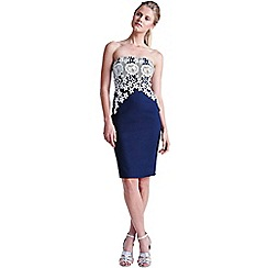 Paper Dolls - Cream and navy lace bandeau dress