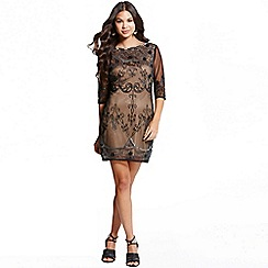 Little Mistress - Mocha lace embroidery overlay