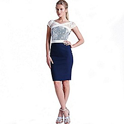 Paper Dolls - Navy and white lace dress