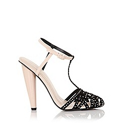 Little Mistress - Cybele nude embellished round toe heel