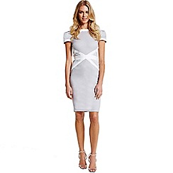 Paper Dolls - Grey and white lace insert dress
