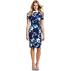 Paper Dolls - Navy floral collar dress
