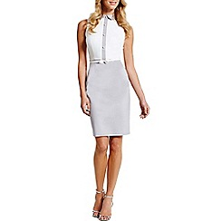 Paper Dolls - Grey and white button dress