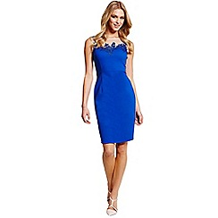 Paper Dolls - Blue mesh insert wiggle dress