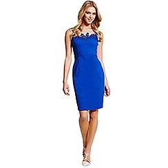 Paper Dolls - Blue mesh insert wiggle dress