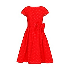 Little Misdress - Orange cap sleeve bow waist dress