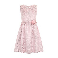 Little Misdress - Pink metallic baroque dress