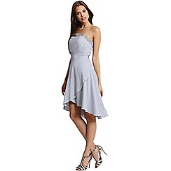 Little Mistress - Grey embellished bandeau dress