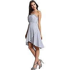 Little Mistress - Grey embellished bandeau dress