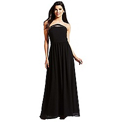 Little Mistress - Black embellished bandeau maxi dress