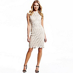 Paper Dolls - Nude floral mesh insert dress