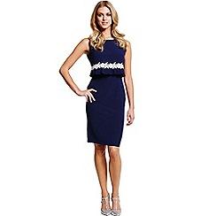 Paper Dolls - Navy and white 2 in 1 dress