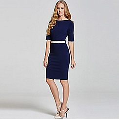 Paper Dolls - Navy  sleeve dress