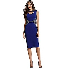Little Mistress - Blue cut out bodycon dress