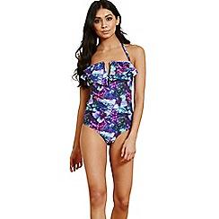 Paper Dolls - Lavender bandeau swimsuit