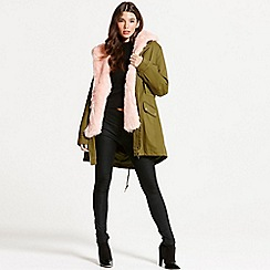 Little Mistress - Khaki and pink trench coat