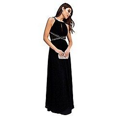 Little Mistress - Black empire maxi dress