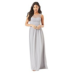 Little Mistress - Grey embellished maxi dress