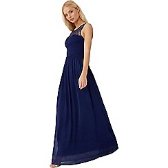 Little Mistress - Navy embellished maxi dress
