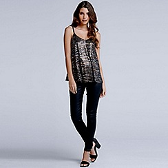 Girls On Film - Metallic animal print cami top